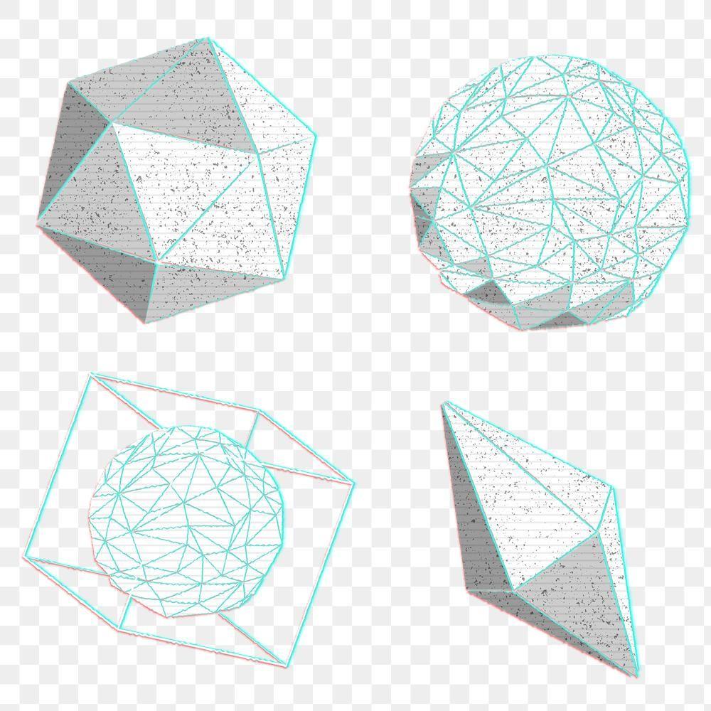 3d Geometric Shape Design Element Set Free Image By Rawpixel Com Kappy Kappy Geometric Shapes Design 3d Geometric Shapes Geometric Shapes