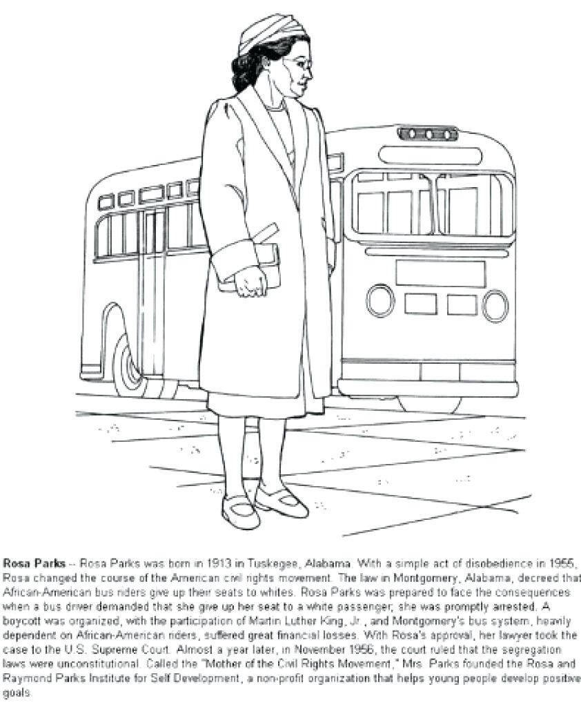 Rosa Parks Coloring Pages Rosa Parks Coloring Pages Black History Month Printables