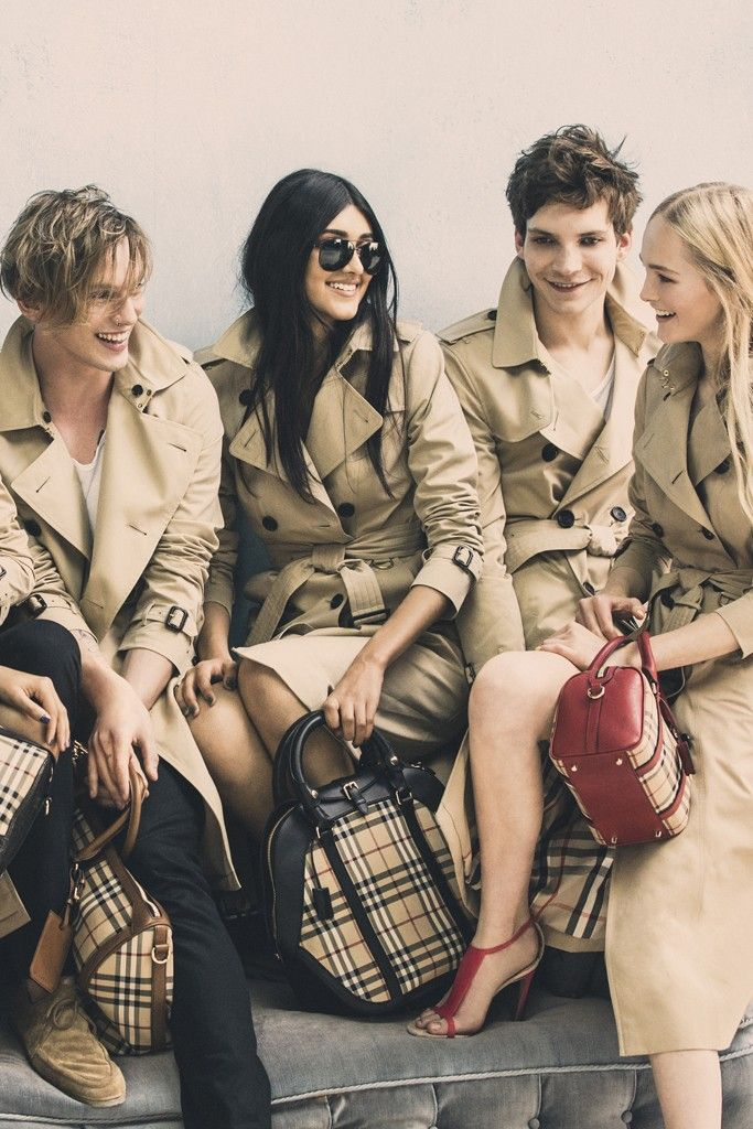 A behind-the-scenes exclusive image from the Burberry spring campaign shoot. [Photo by Mario Testino]