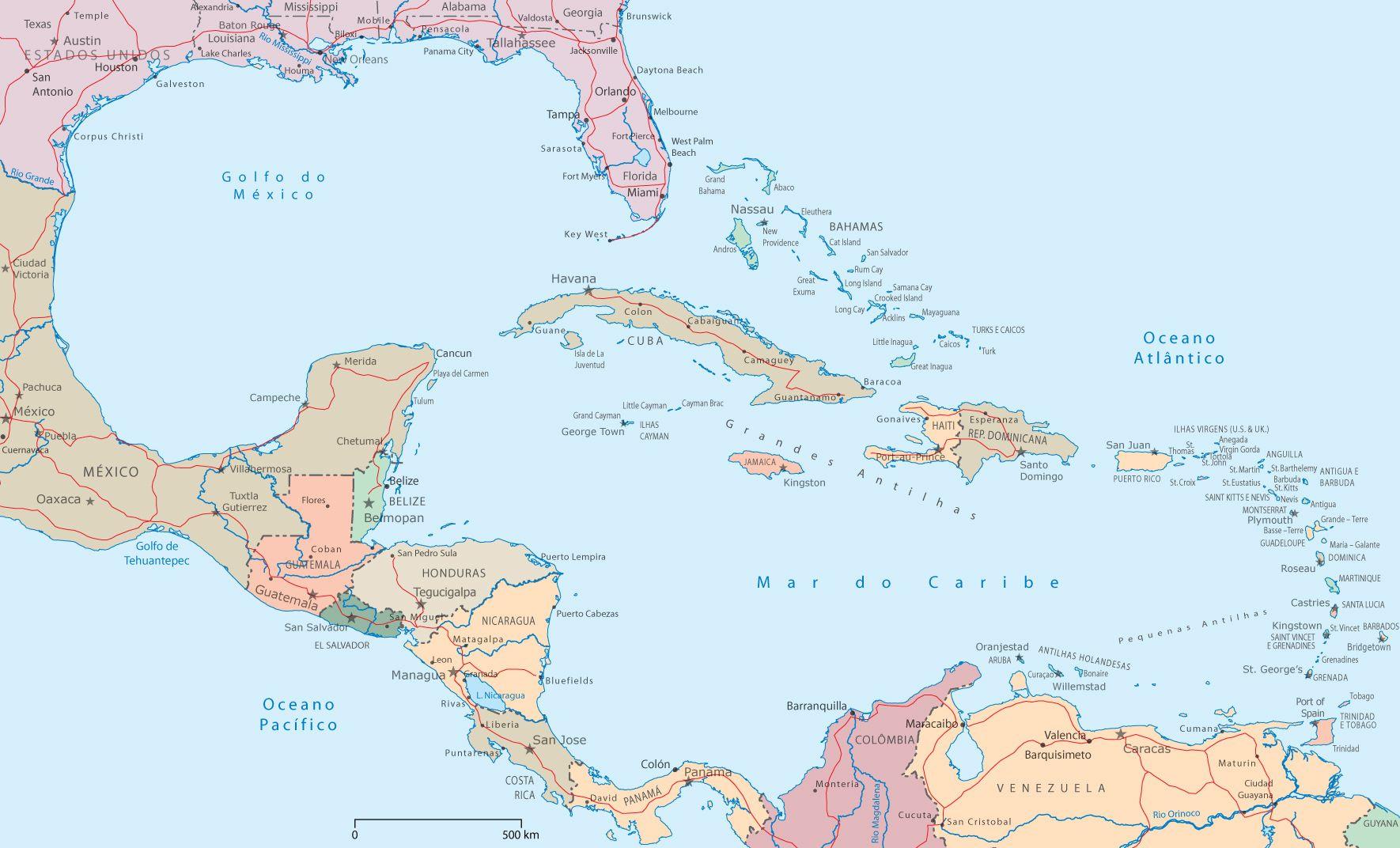 Golfo De Mexico Map.Centroamericana Esta Al Sur De Los Estados Unidos La Esta Entre De