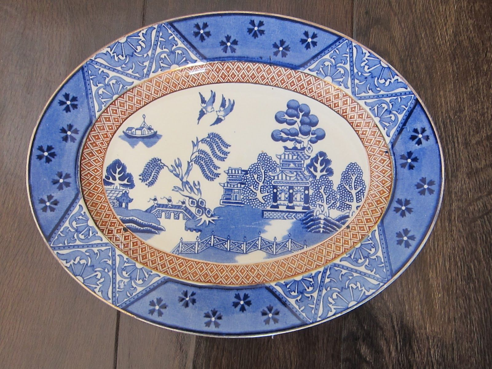 Blue and White Alfred Meakin China - Manchu