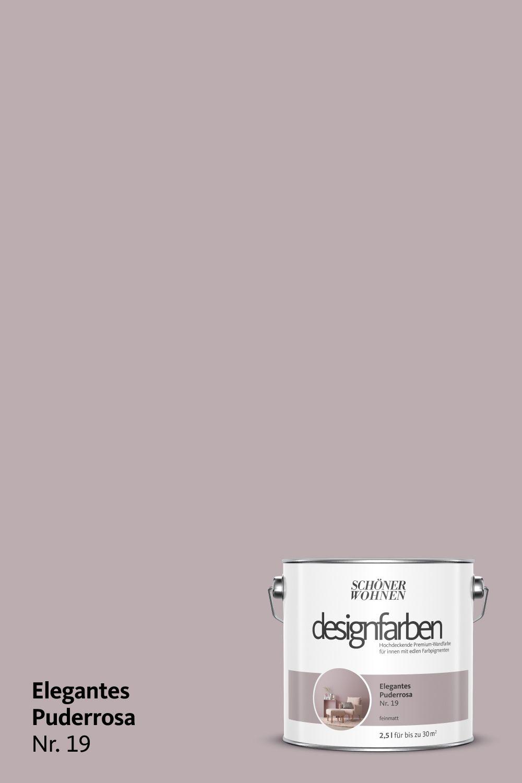 Designfarbe Elegegantes Puderrosa Nr 19 Schoner Wohnen Farbe Puder Rosa Schoner Wohnen Wandfarbe