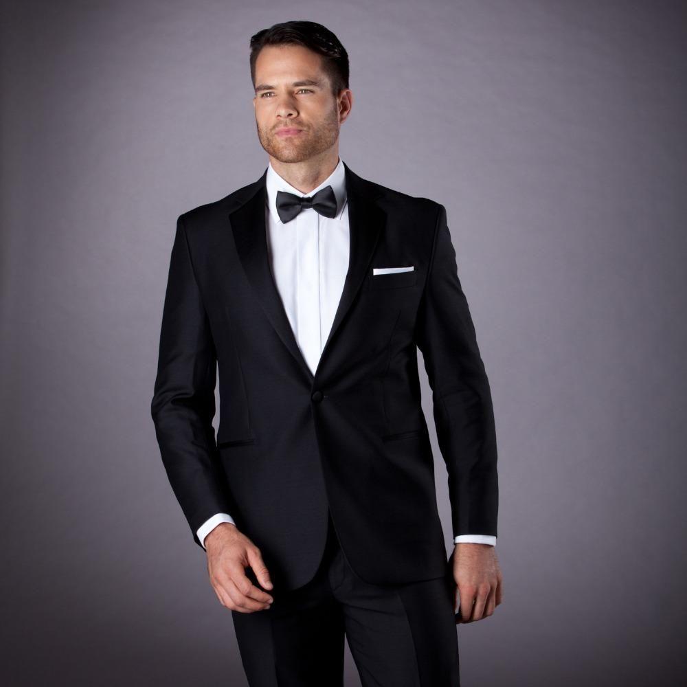 wedding tuxedo black men suit groom wear classic suit 2017 bespoke ...
