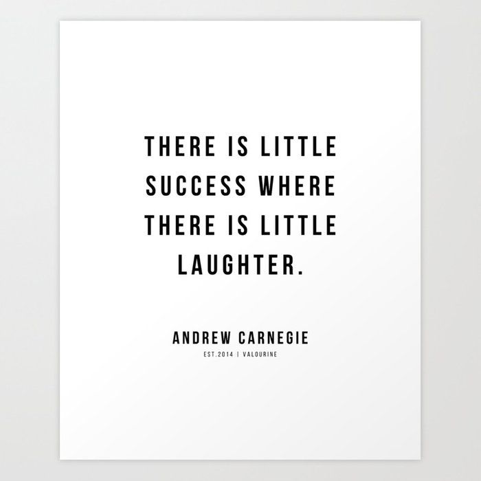 22 |Andrew Carnegie Quotes | 21010 | Motivational Inspirational Success Quote Personal Development Business Coach Art Print by Wordz