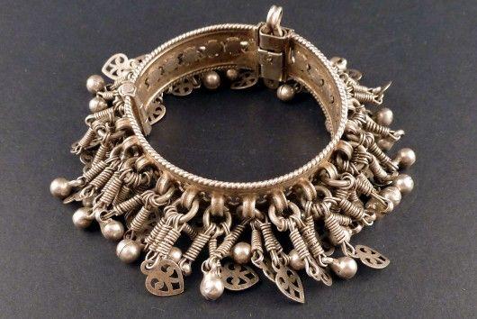 Old indian silver bracelet, Himachal Pradesh