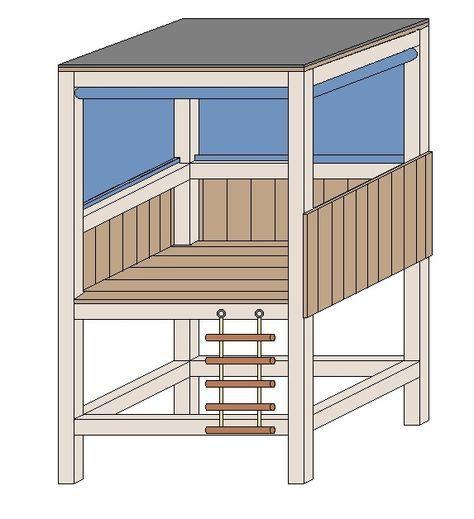 Stelzenhaus selber bauen kinder draußen Pinterest - gartenbank selber bauen bauanleitung