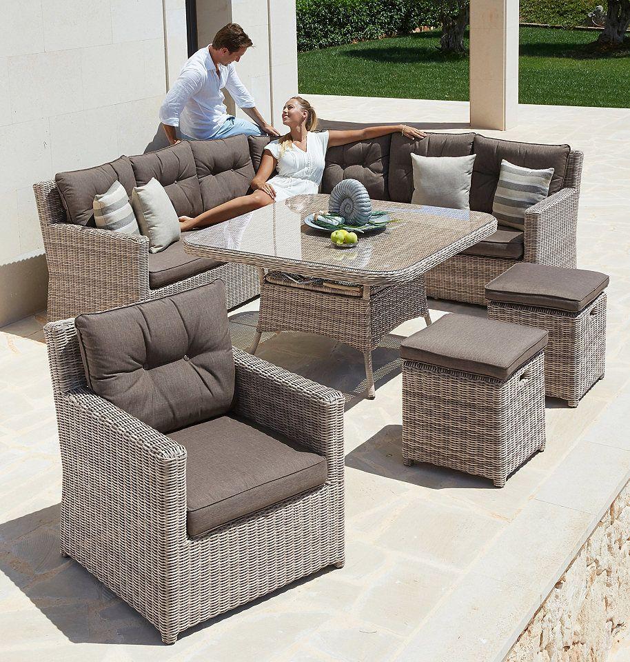 Gartenmobelset Bahamas 25 Tlg Ecklounge Sessel 2 Hocker Tisch Polyrattan Jetzt Bestellen Unter Https Moebel Lade Gartenmobel Mobel Gartenmobel Sets