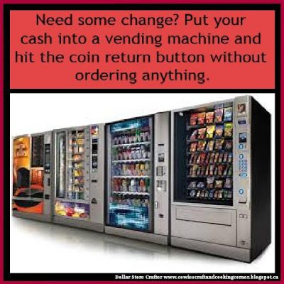 Dollar Store Crafter Need Change Hack Coffee Vending Machines Tea Vending Machine Vending Machine Design