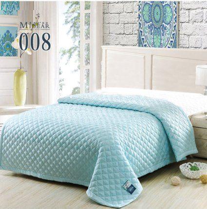 Buy King/queen Size Bedroom Summer Quilts Thin Comforter Silk ... : light summer quilt - Adamdwight.com