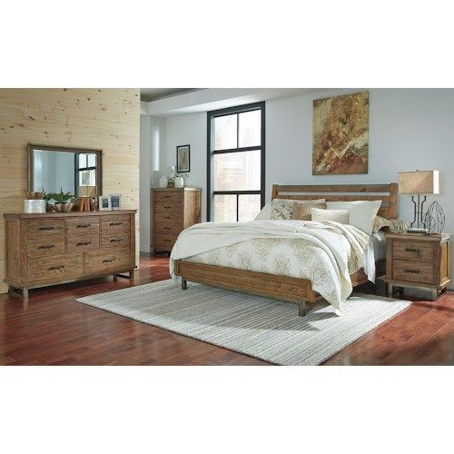 Signature Design By Ashley Dondie Modern Rustic Solid Wood Queen