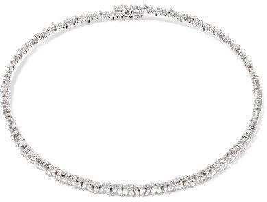 18 Carats Rose Collier De Diamants D'or - Taille Suzanne Kalan ZwU304P0N