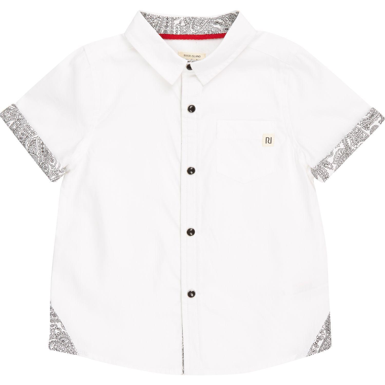 Mini boys white bandana print shirt tops mini boys boys