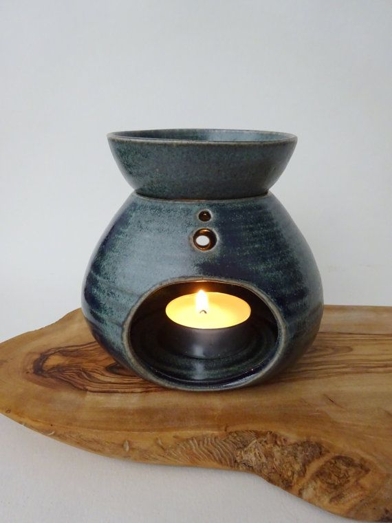 Blue Green Handmade Ceramic Essential Oil Burner