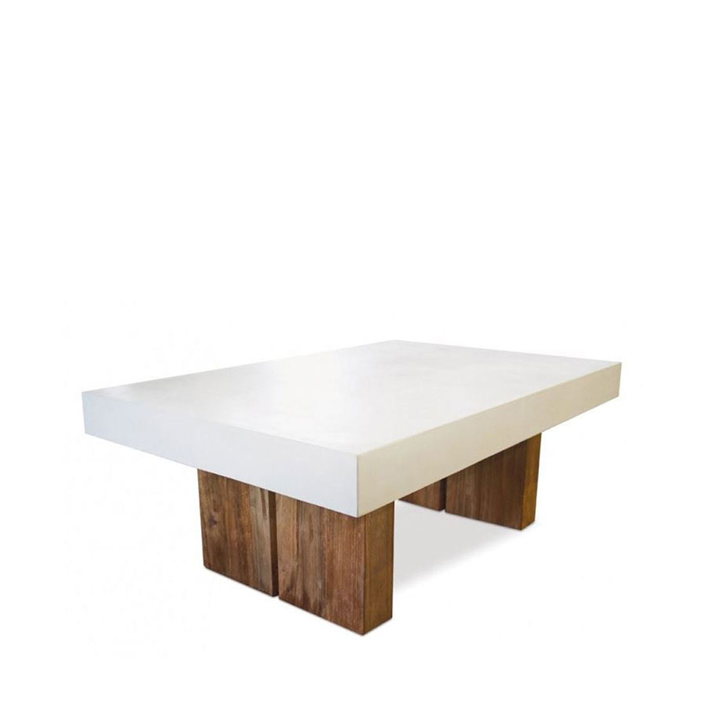 Reclaimed Teak and Concrete top coffee table white