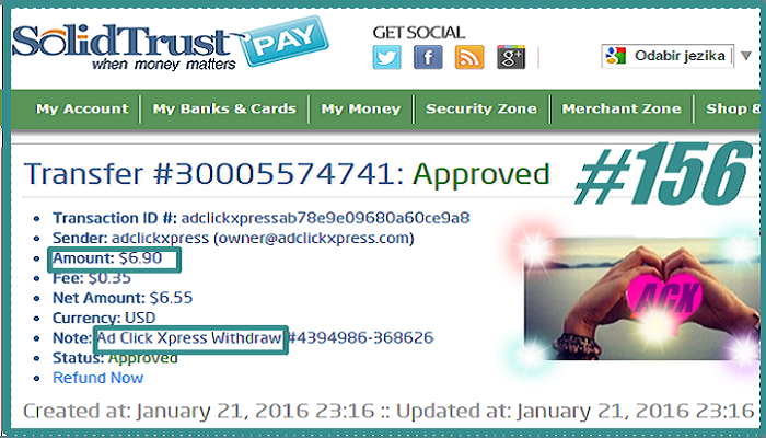 I love making money online with Ad Click Xpress because this ...