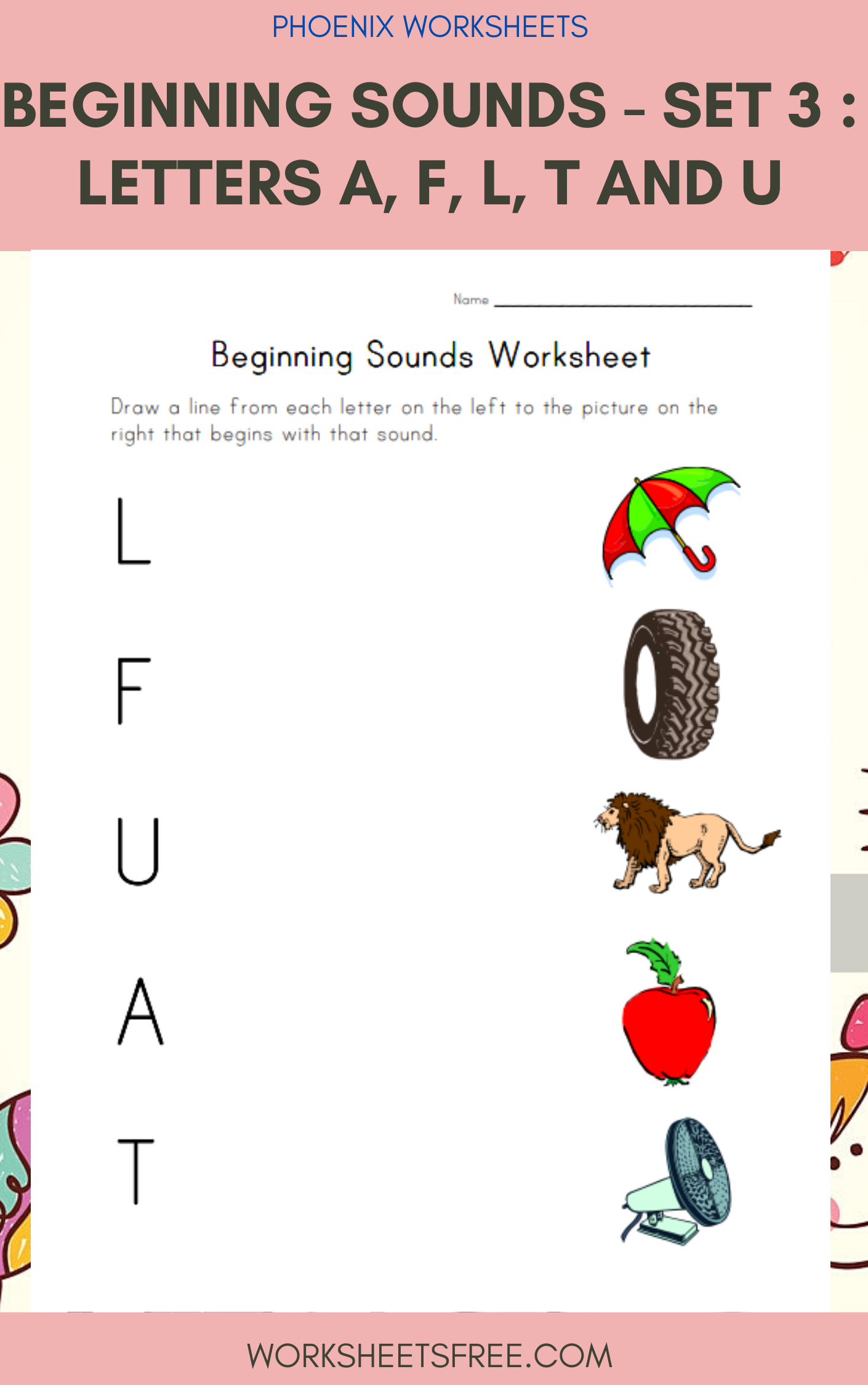7 Beginning Sounds Worksheets In