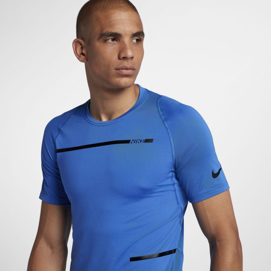 3235082851 Nike Pro Men s Short Sleeve Training Top Size XL (Signal Blue ...