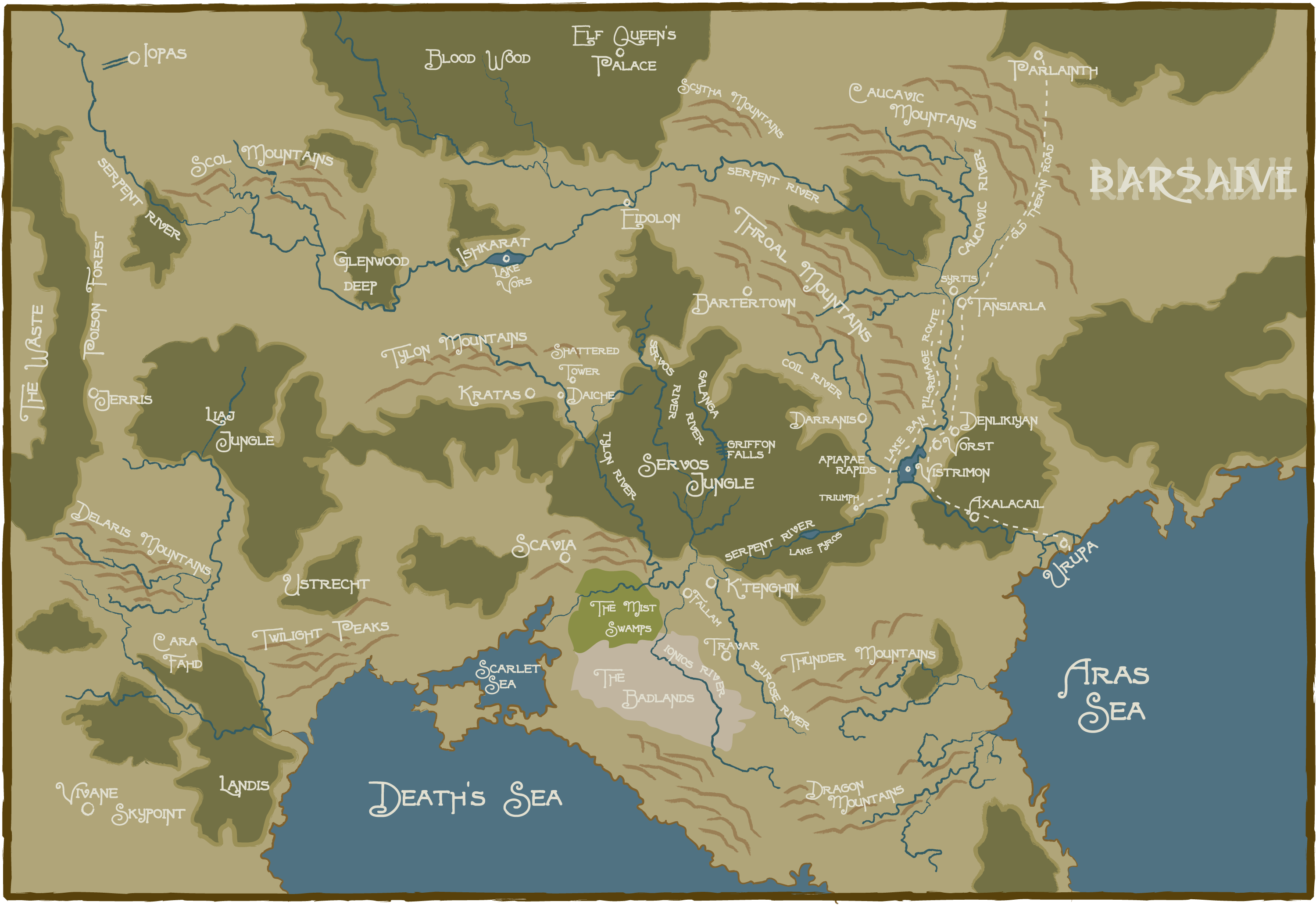 Pin by PINVERSE 020 on RPG # GURPS | Fantasy world map ...
