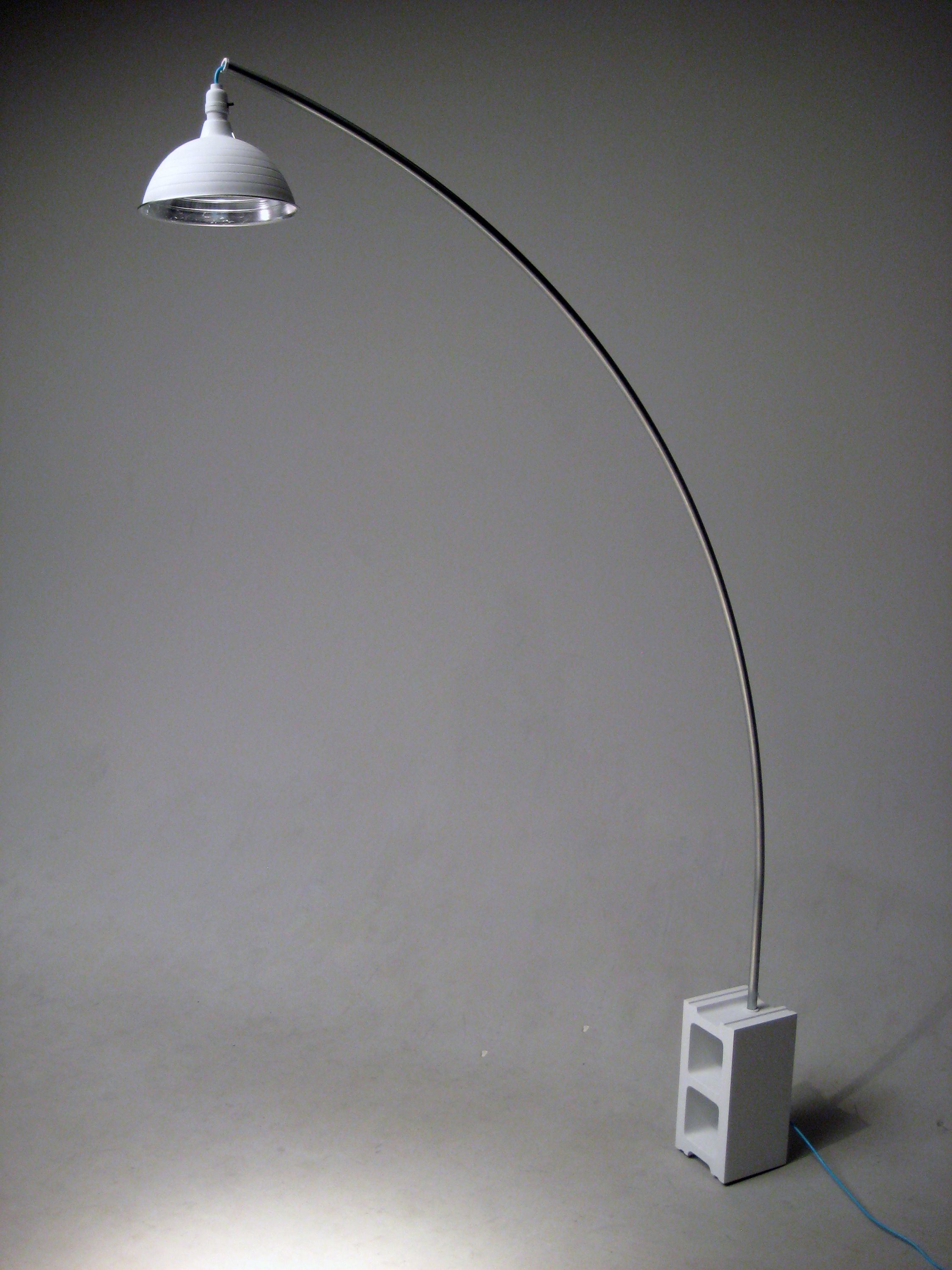 Reconstruct Arco  A Lamp Made From A Cinder Block,
