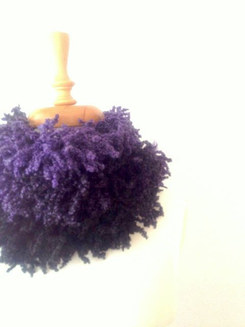Purple Fringed Long Scarf Shadows of Purple Scarf by allapples