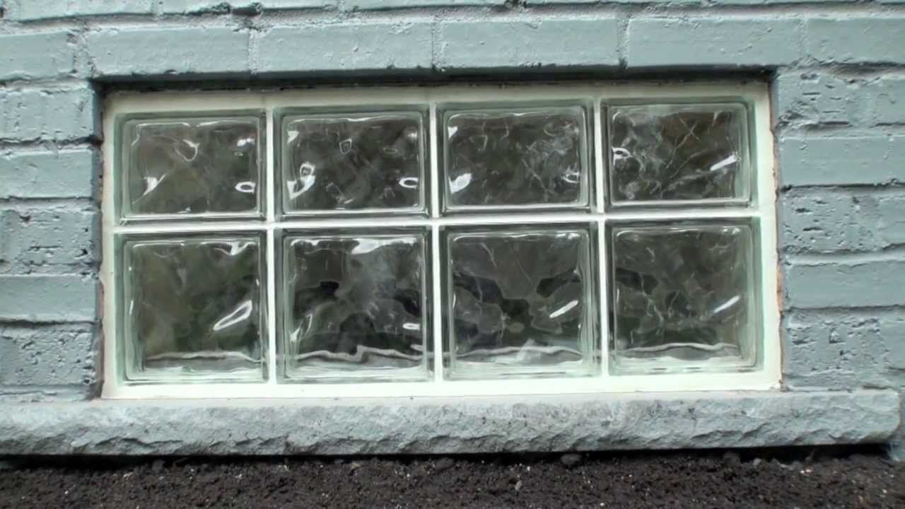 Glass block window installation 2013 basement remodel in - How to install a bathroom window ...