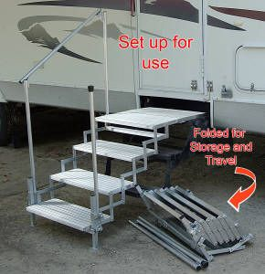 Best Portable Rv Decks And Steps Wonder If I Could Build Something Like This Camper Steps 400 x 300