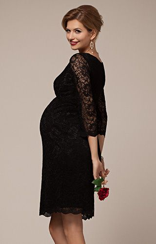 41561972473dd The ultimate little black maternity dress to celebrate your new shape at  Christmas parties.