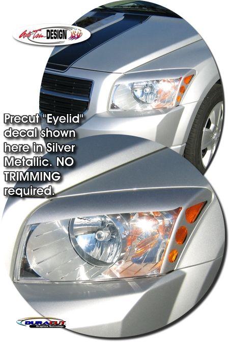 Headlight Eyelid Decal Kit 2 For Dodge Caliber Dodge Caliber Dodge Caliber