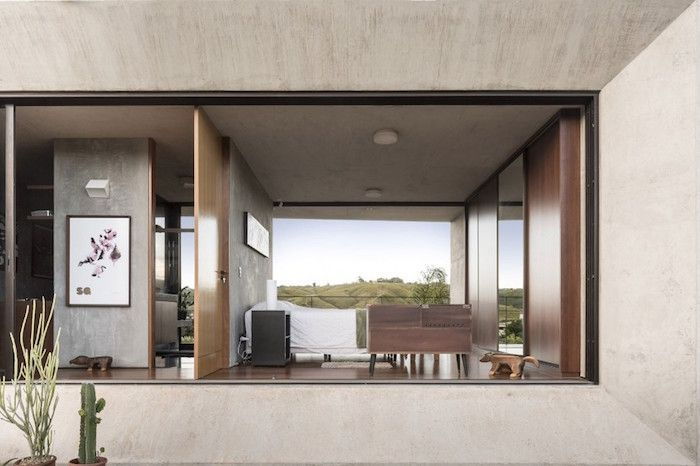 A Minimal Concrete House Offering Stunning Views From Both Sides Concrete Houses Interior Architecture House