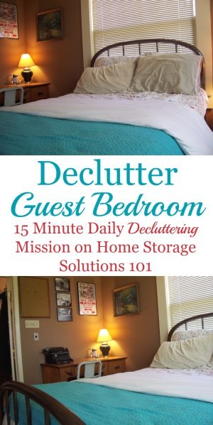 guest bedroom declutter mission how to clear the clutter on innovative ideas for useful beds with storages how to declutter your bedroom id=91652