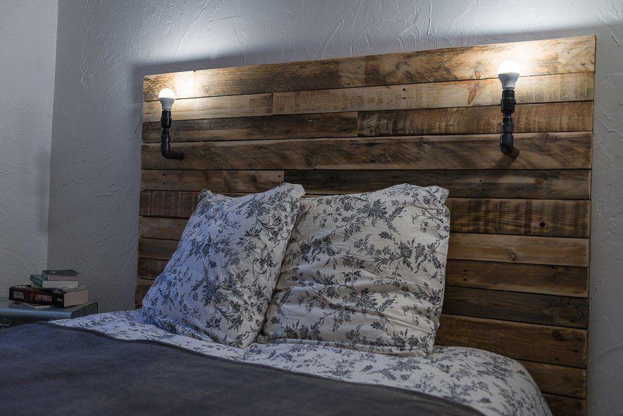 t te de lit pallet bed headboard pallet ideas 1001 pallets bed headboards and pallets. Black Bedroom Furniture Sets. Home Design Ideas