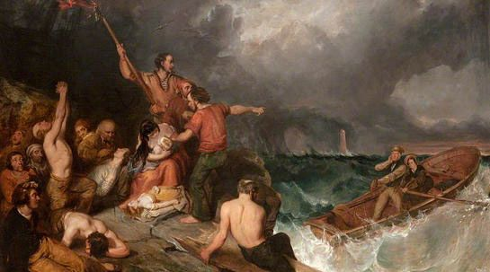 Grace Darling The Artists Wreck Of The Forf By Joy