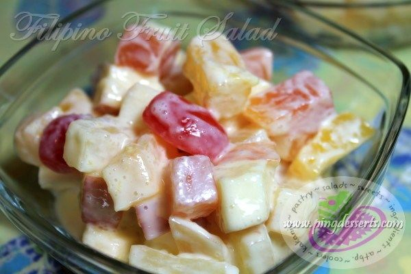 Pin By Filipino Desserts By Ping Dess On Filipino Salads Fruit Salad Recipes Filipino Fruit Salad Yummy Salad Recipes