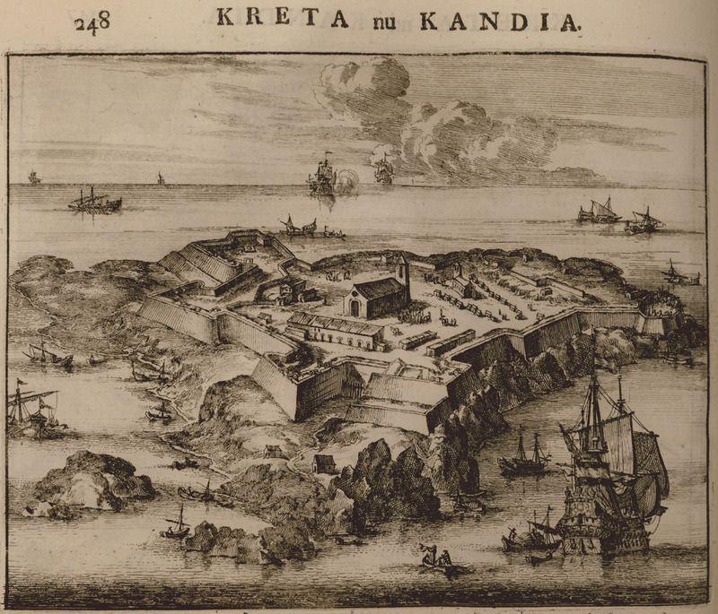 1688 Οχυρό στη βραχονησίδα στην είσοδο του κόλπου της Σούδας. - DAPPER, Olfert - ME TO BΛΕΜΜΑ ΤΩΝ ΠΕΡΙΗΓΗΤΩΝ - Τόποι - Μνημεία - Άνθρωποι - Νοτιοανατολική Ευρώπη - Ανατολική Μεσόγειος - Ελλάδα - Μικρά Ασία - Νότιος Ιταλία, 15ος - 20ός αιώνας