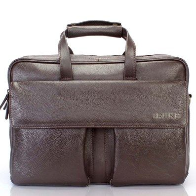BUY ONLINE BRUNE S TIMELESS MENS  LEATHER  BRIEFCASE IN INDIA ... 7af246ab2eef5