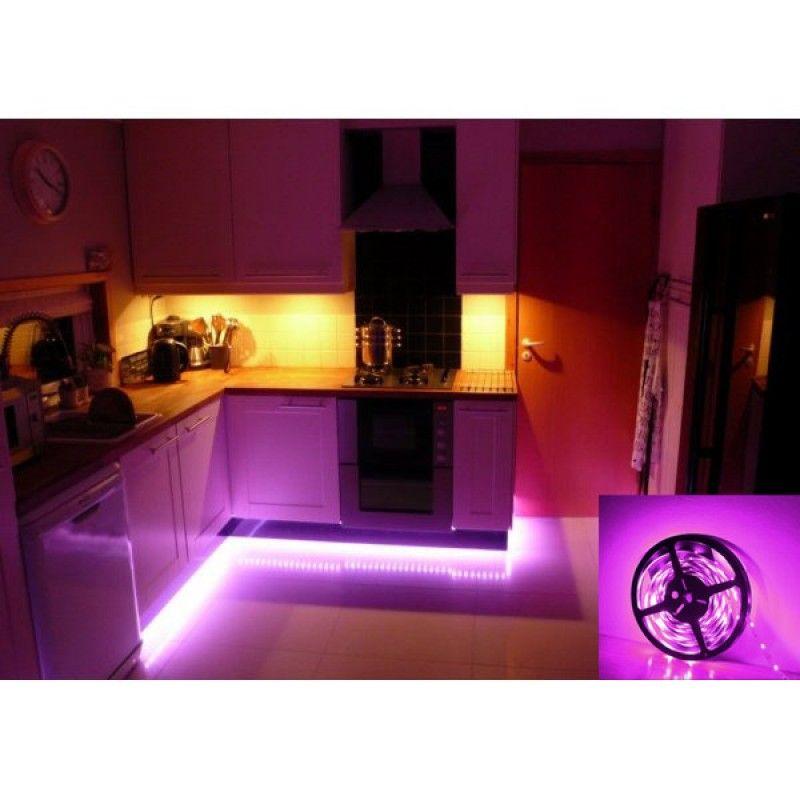 12v Waterproof Led Strip Light Kit Rgb Colour Changing 5m 5050 Le Kitchen Led Lighting Modern Kitchen Lighting Kitchen Lighting