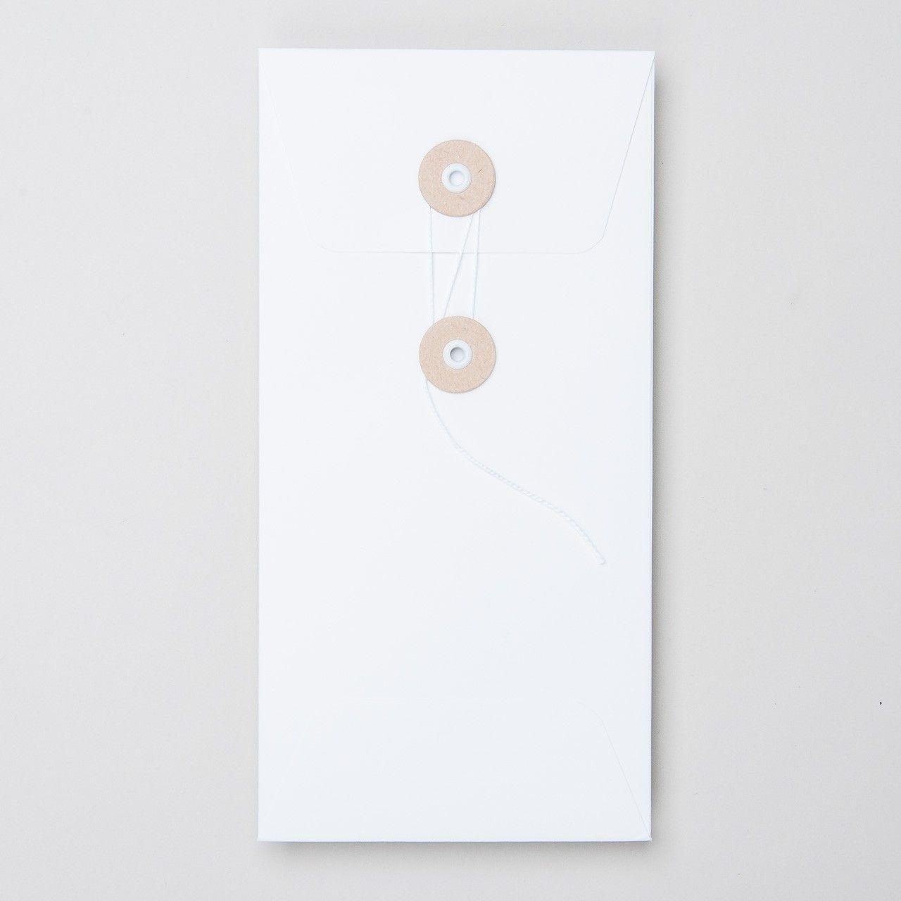 """Umschlag mit Kordel """"weiß"""" DL Papeterie Pinterest"""
