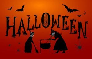 Here you will find witches, witches and more witches. Good witches, evil witches, funny witches and more.: Halloween Witches And Bats Sign