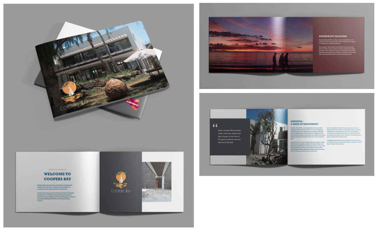 apartment brochure design. Brochure Design For Coastal Luxury Apartment
