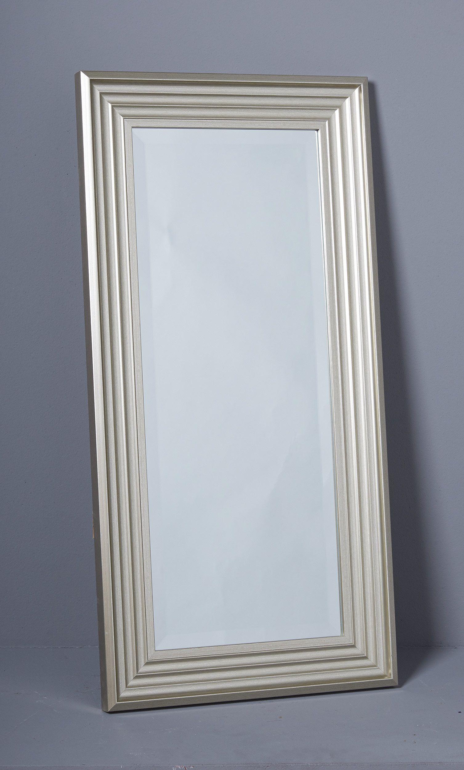 Wandspiegel 80x40 silberfarbend im Shabby Chic Stil | Spiegel ...