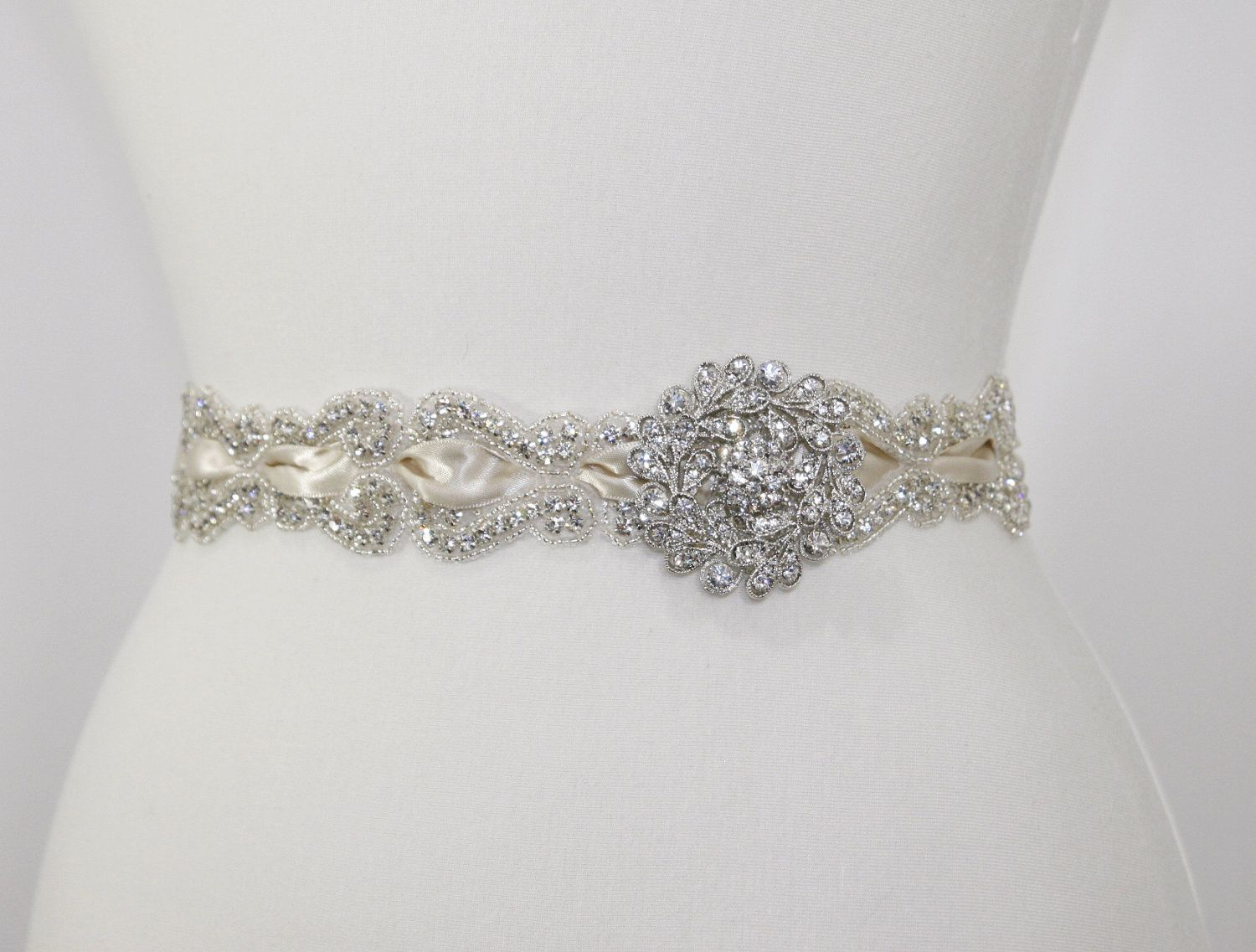 Vintage bridal sash,wedding sash,bridal accessories,beaded belt ...