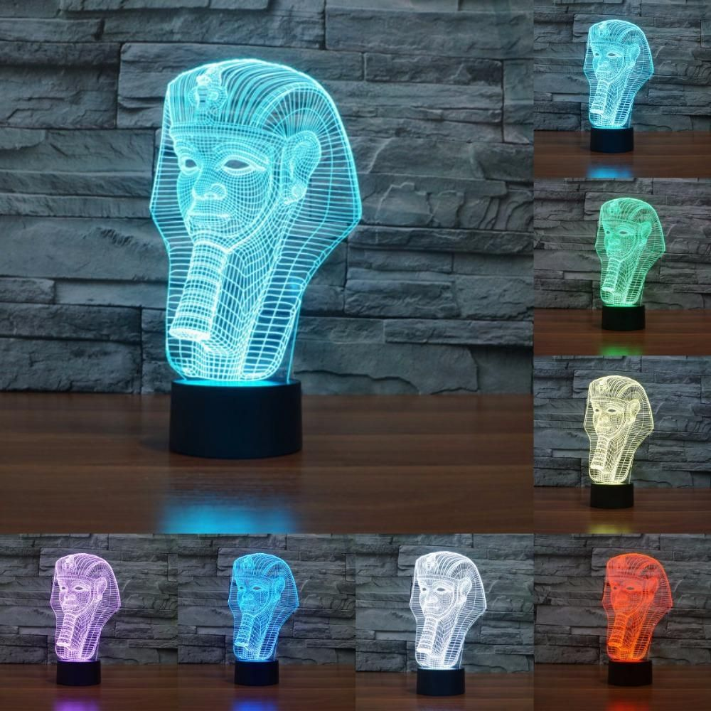 Sphinx 3d Illusion Led Lamp 3d Illusions Led Night Light Anime Merchandise