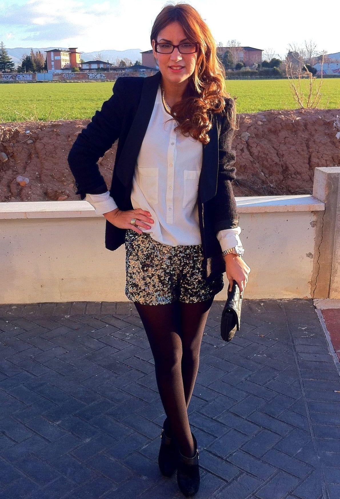 prix de liquidation regarder large choix de couleurs PAILLETTES SHORT #outfit , Zara in Shirt / Blouses, Primark ...