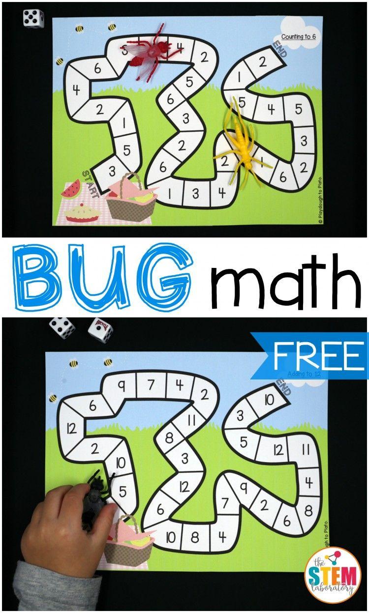Bug Race Math Games Preschool math games, Math games for