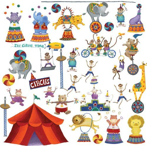 Perfect RoomMates Repositionable Childrens Wall Stickers Big Top Circus In Home,  Furniture U0026 DIY, Childrenu0027s Home U0026 Furniture, Home Decor