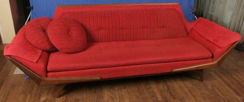 Miraculous Mid Century Modern Adrian Pearsall Red Sofa Craft Associates Short Links Chair Design For Home Short Linksinfo