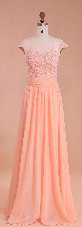Peach Color Long Modest Prom Dresses Bridesmaid Dresses Peach Prom Dresses Peach Bridesmaid Dresses Prom Dresses [ 1500 x 542 Pixel ]