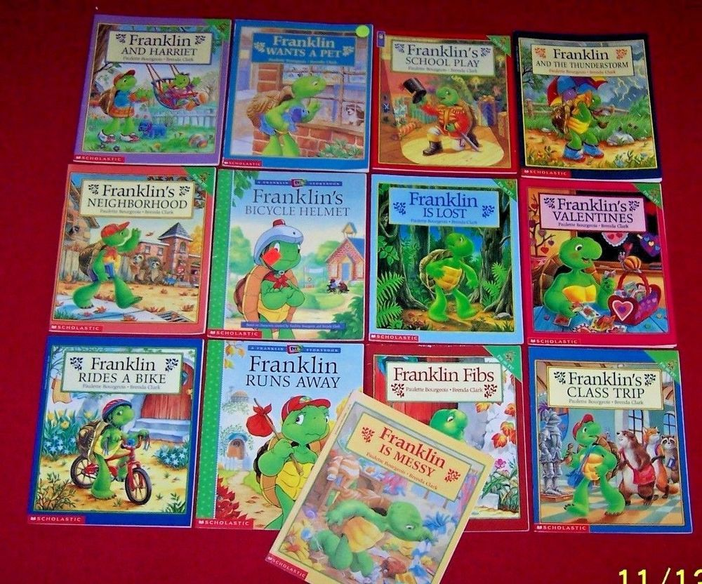 Franklin Lot Of 13 Picture Books Bourgeois Bike Helmet