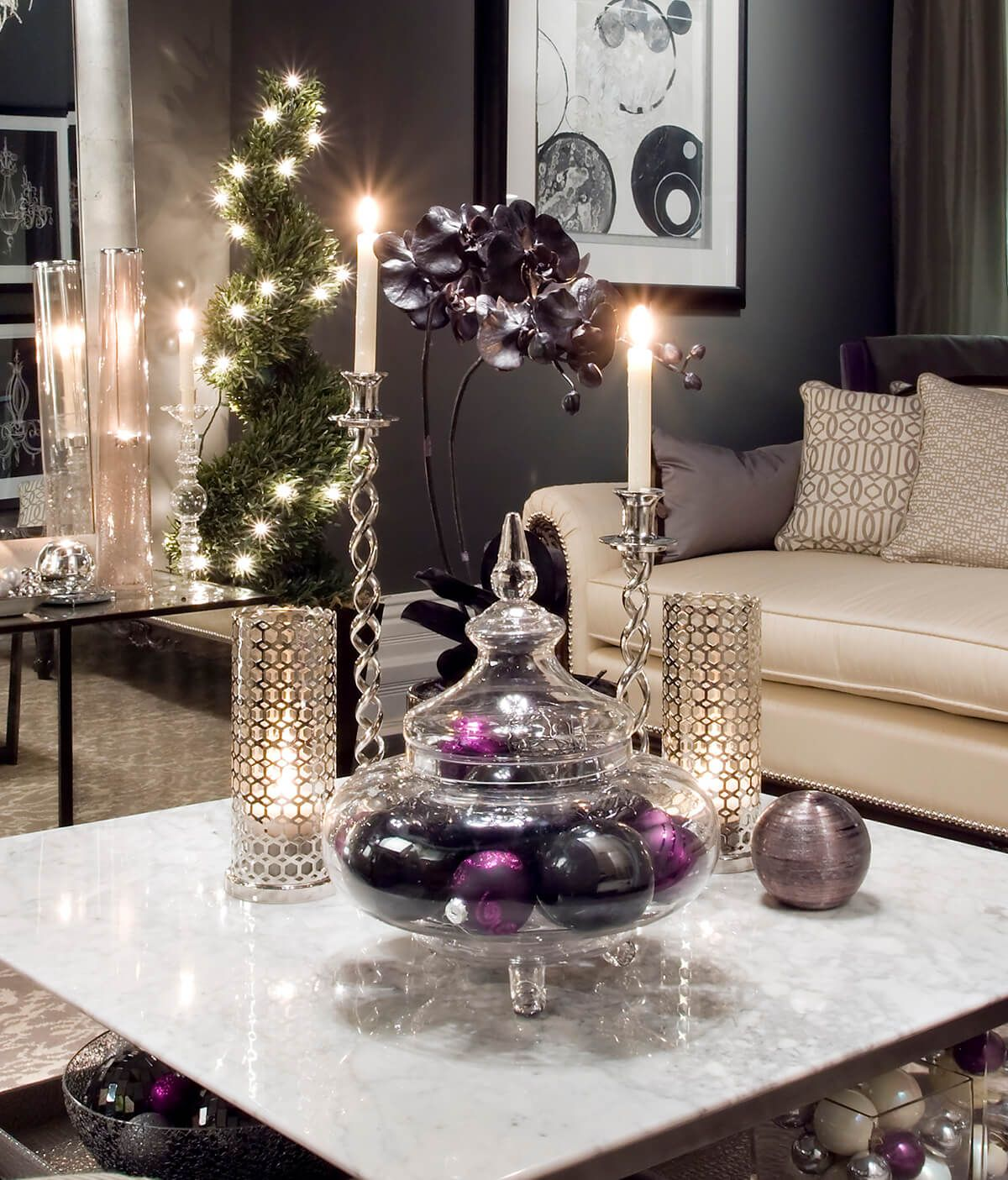 Living Room Makeover Reveal By Decor Gold Designs: Three Kings Royalty Of Purple And Gold