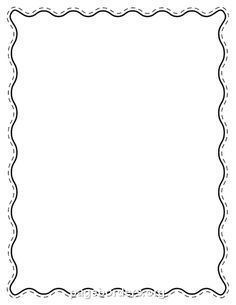 Printable black wavy border Use the border in Microsoft Word or
